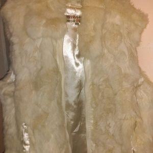 Jackets & Blazers - 4/$30🌹100% Real Rabbit Fur Vest by Twenty Twenty